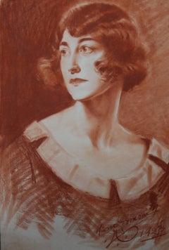 Portrait of a lady - Italian Roaring 20's Art Deco style woman