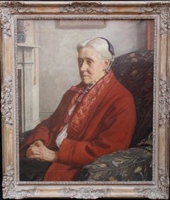 Susan Isabel Dacre - British interior oil portrait of famous feminist artist