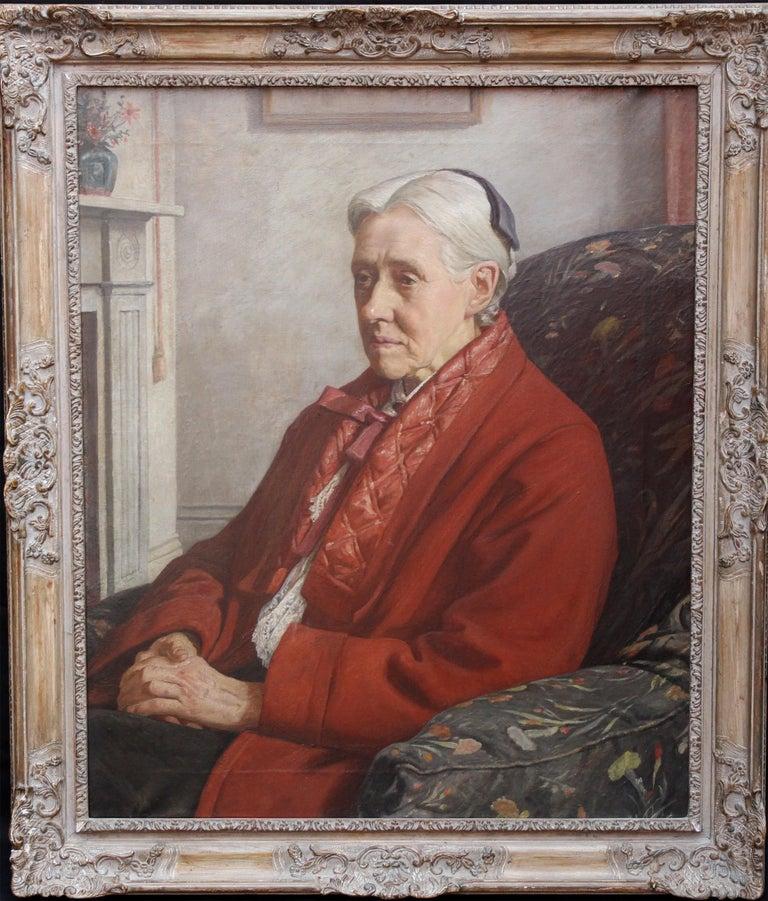 Francis Dodd Portrait Painting - Susan Isabel Dacre - British interior oil portrait of famous feminist artist
