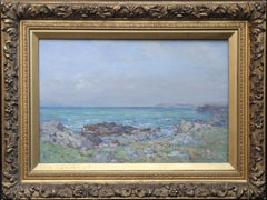 Downan Shore Ballantrae - Scottish Impressionist rocky seascape marine oil
