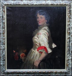 The Artist's Wife - British Art Royal Academy exhibited oil painting portrait
