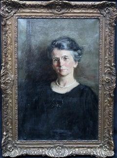 Portrait of a Woman - Scottish oil painting - Portrait Art - Post Impressionist