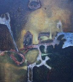 Carib Selva 1955 - British Modernist Abstract Expressionist Art oil painting
