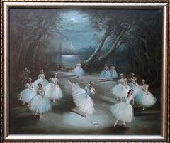 Giselle Act II - Alicia Marlova - ballet danser scene oil painting female artist