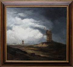 Montmartre - Windmills Paris Extensive Landscape - French Realist oil painting