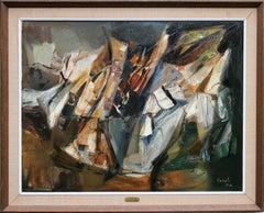 Escarpment - Australian landscape - Abstract oil painting female artist