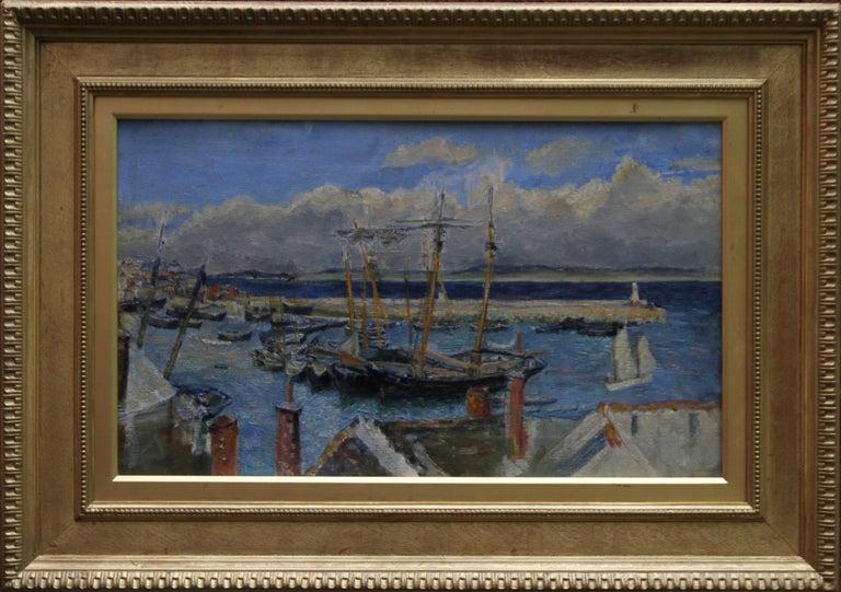 St Ives Cornwall - British Impressionist oil marinescape Cornish harbour sea