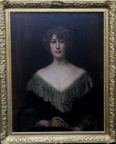 Emily Gertrude Lilias Muirhead - British oil painting portrait military family