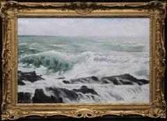 Seascape - Scotland - Edwardian Post Impressionist Scottish marine oil painting