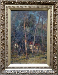 Wood Gatherer- East Linton- Scottish Impressionist Landscape oil painting