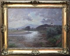 Scottish Art River Landscape - Impressionist oil painting Scotland early 20thC