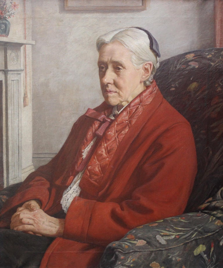 Susan Isabel Dacre - British interior oil portrait of famous feminist artist  - Painting by Francis Dodd