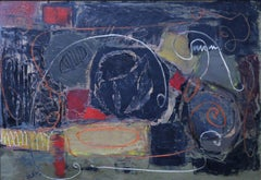 Abstract - British Art - Abstract Expressionist oil painting - 1950's
