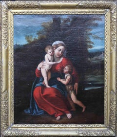 Madonna and Child - Old Master Italian oil painting portrait landscape