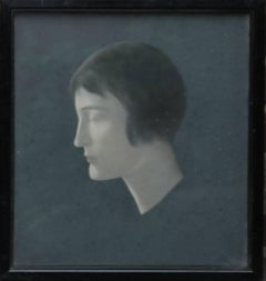 Portrait of a Lady - British female portrait 1930's Art Deco