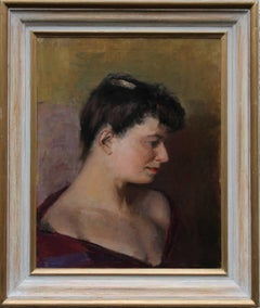 Elinor Bellingham Smith  Portrait artist's wife British oil painting Slade Scool