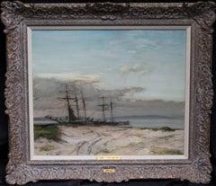 The Anastasia - Scottish Impressionist marine oil painting Norwegian trader ship