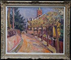 Hamstead Parish Church - Norweigan/British 50's Post Impressionist oil painting