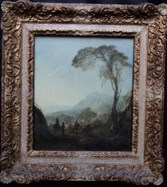 The Resting Place - Old Master Dutch Baroque oil painting landscape travellers