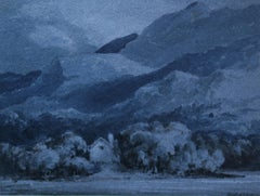 Dinas Cottage Killarney - Old Master Irish landscape blue nocturne art
