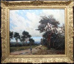 Cornish Flock - Oil painting British female St Ives artist sheep landscape