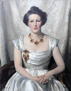 Lady Helen Roger - Scottish Glasgow artist 30's oil painting portrait