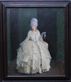 Clarissa - Exhibited British oil painting portrait Theatre actress Olive Groves