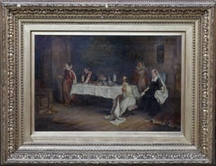 Mary Queen of Scots in Holyrood - Scottish Victorian oil painting Interior scene