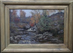 Autumn in the Glenn - Scottish Impressionist oil painting riverscape woodlands