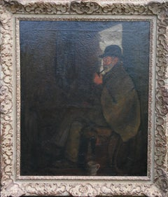 Quiet Reflection - Victorian Impressionist oil painting Newlyn Cornish movement