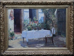 Lunch Al Fresco at Blaincourt Les Precy - French Impressionist oil painting art