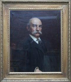 Portrait of John Beck - British Victorian oil painting portrait of a gentleman