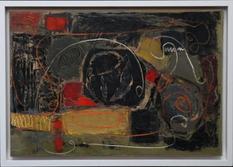 Robert Sadler Abstract Painting - Abstract - British art 50's Abstract Expressionist oil painting