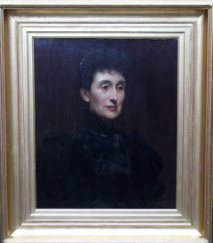 Emily Wynne nee Gore Booth - British Victorian art oil painting female portrait