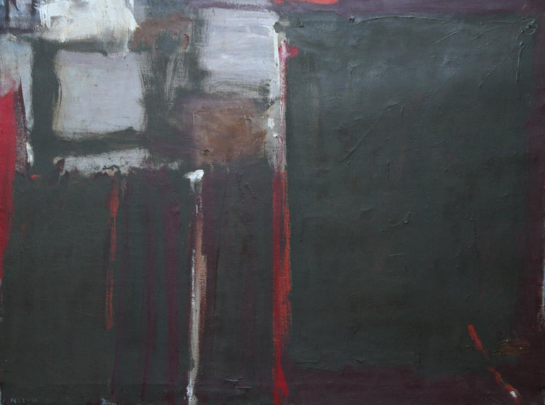 Trevor Bell Abstract Painting - Abstract - British Moderist Abstract Art  - 1950's St Ives School oil painting