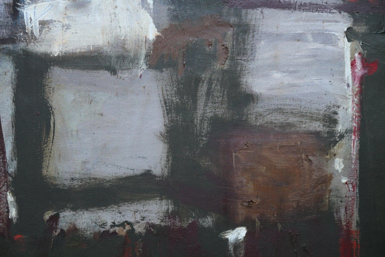 Abstract - British Moderist Abstract Art  - 1950's St Ives School oil painting - Black Abstract Painting by Trevor Bell