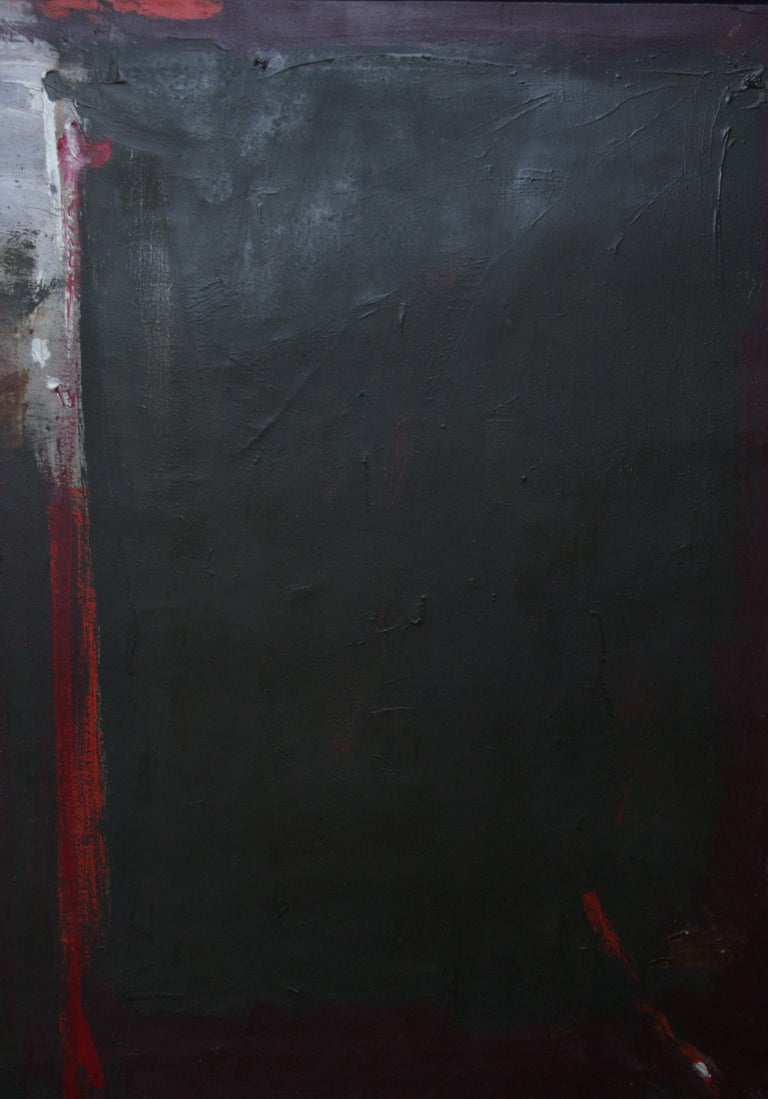 An original very large British Abstract Expressionist oil on canvas by Trevor Bell, the last of the St Ives modernists. Titled December in Anticoli and painted in 1959 after Mark Rothko's visit to St Ives it bears striking resemblence and influence