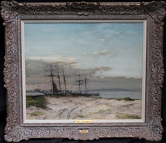 The Anastasia - Scottish Impressionist marine oil painting Norwegian trader ship