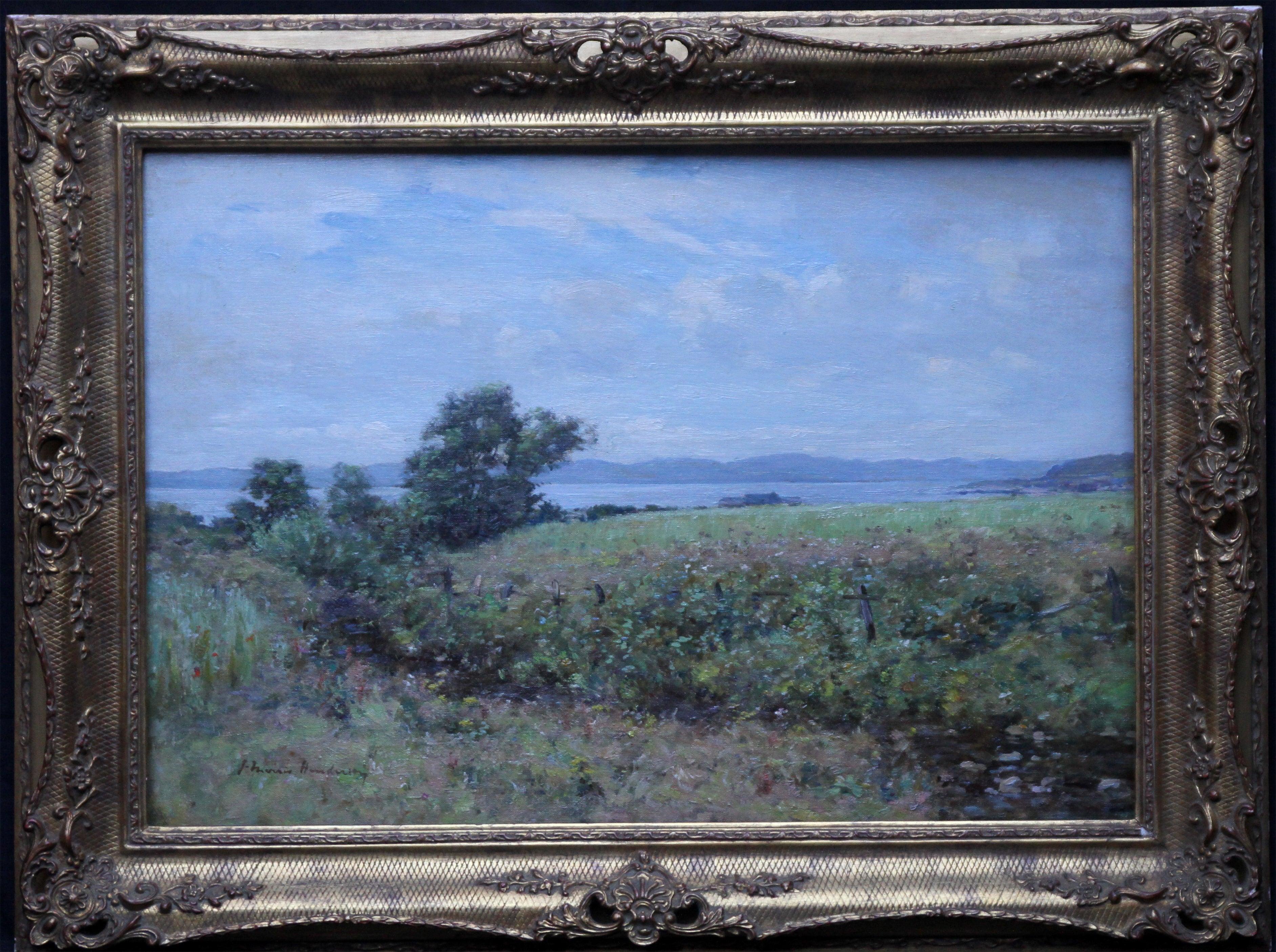 Scottish Coastal View Perthshire - Scottish 19th Century landscape oil painting