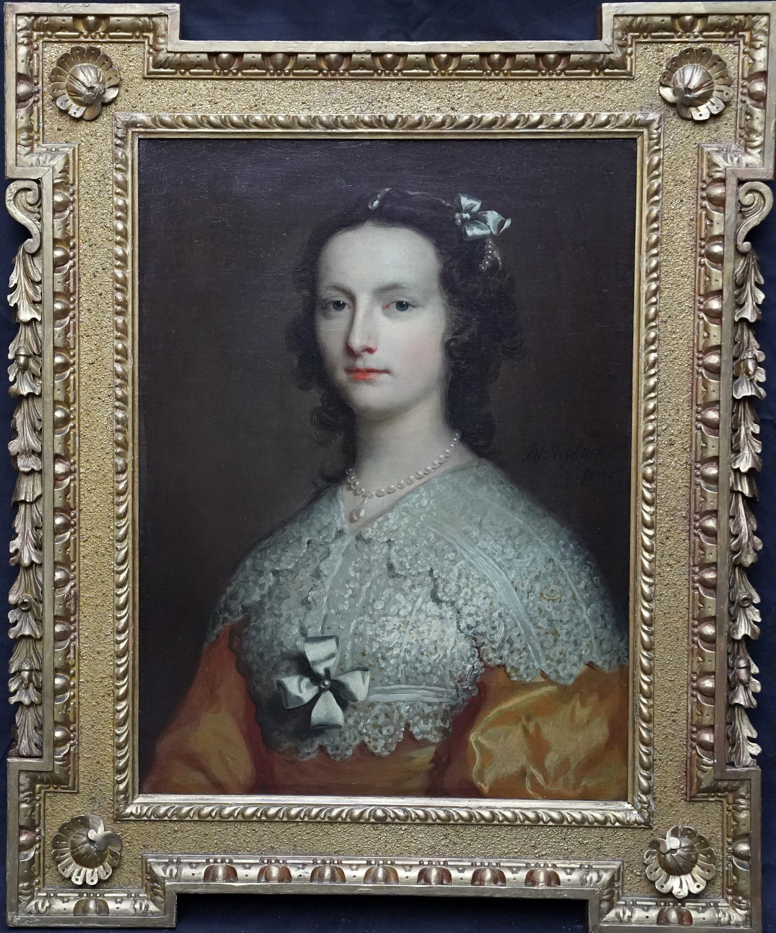 Portrait of Elizabeth Banks - British 18th Century art Old Master oil painting