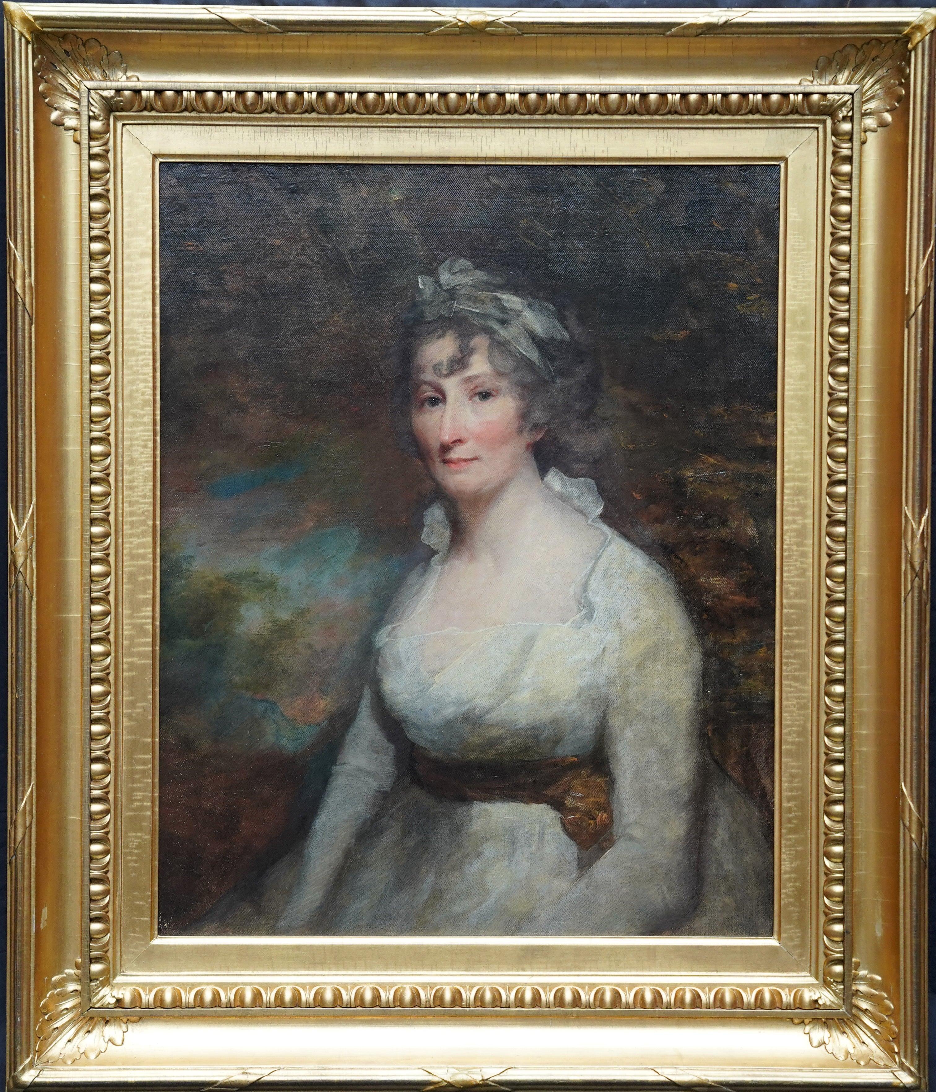 Lady Eleanor Dundas - Old Master 18C Scottish art oil painting female portrait