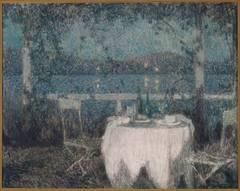 La Table sur la Terasse au Clair du Lune