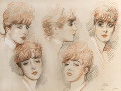 'Suzanne', Étude de cinq têtes