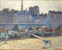 La Cité, vue du quai de l'Hôtel de Ville, 1904