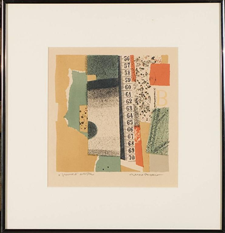 Max Papart Abstract Print - Espace Vertical