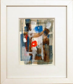 modernist watercolor painting, signed Gombinski