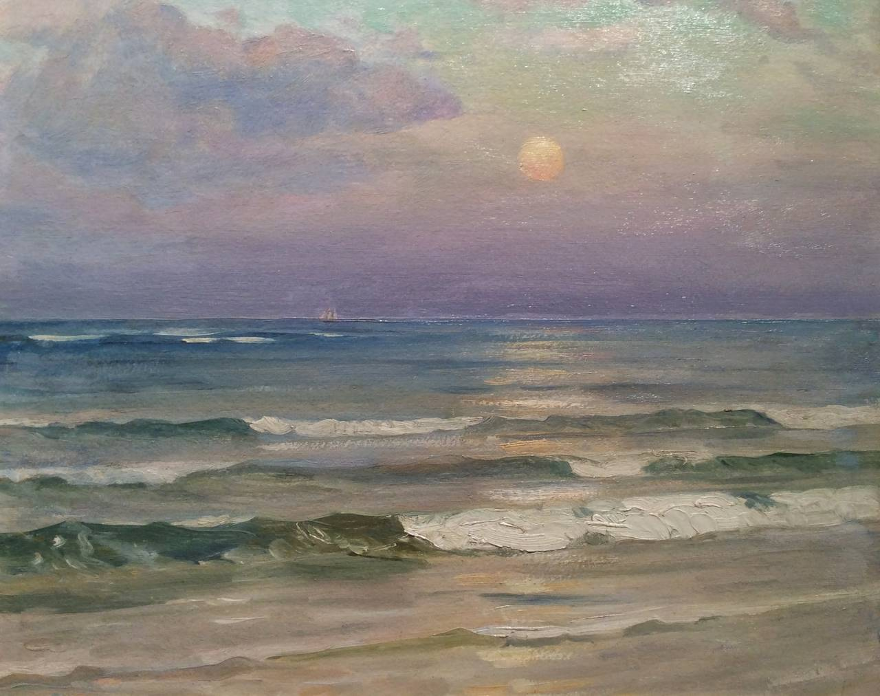 Harold dunbar evening on the beach chatham painting for The chatham