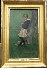 """Playing Flute: A Sketch of Stephen Fitzgerald, Petersham, Mass"""