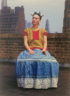 Frida Kahlo (Sitting on roof holding cigarette), 1946