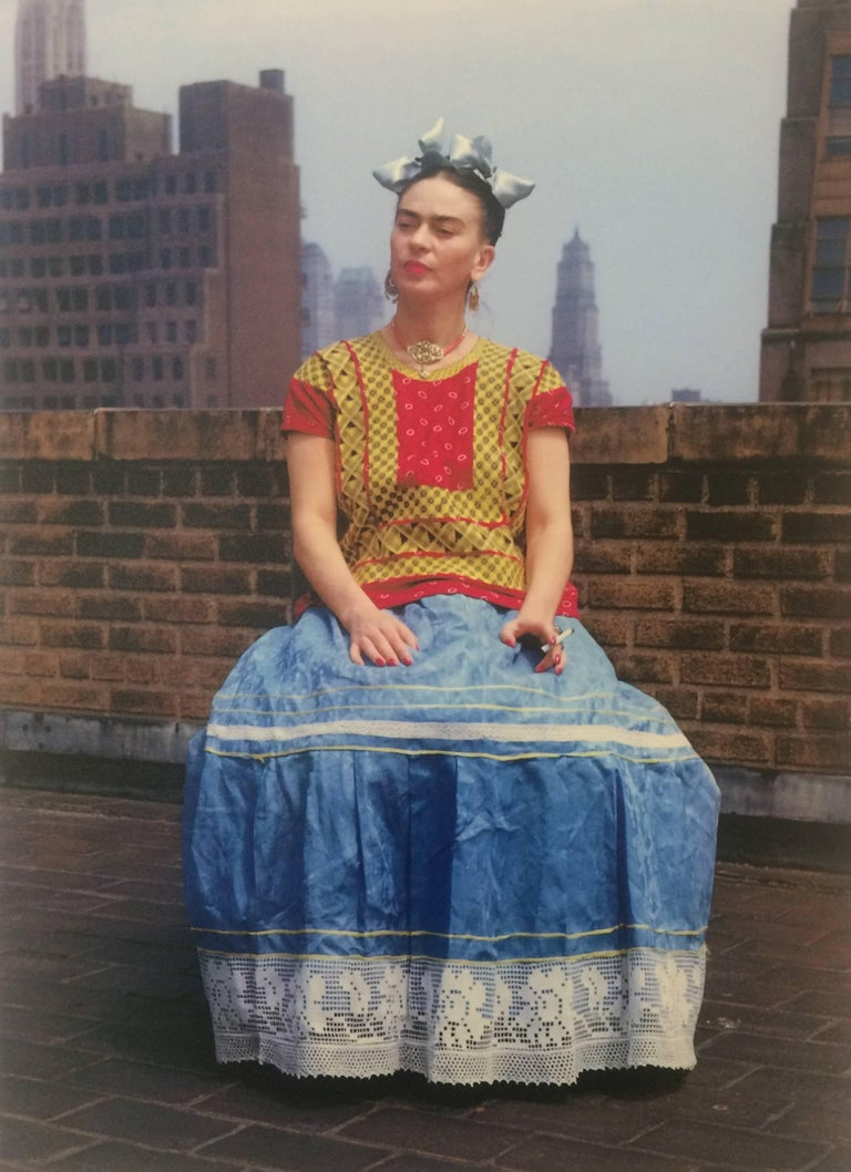 Frida Kahlo (Sitting on roof holding cigarette), 1946